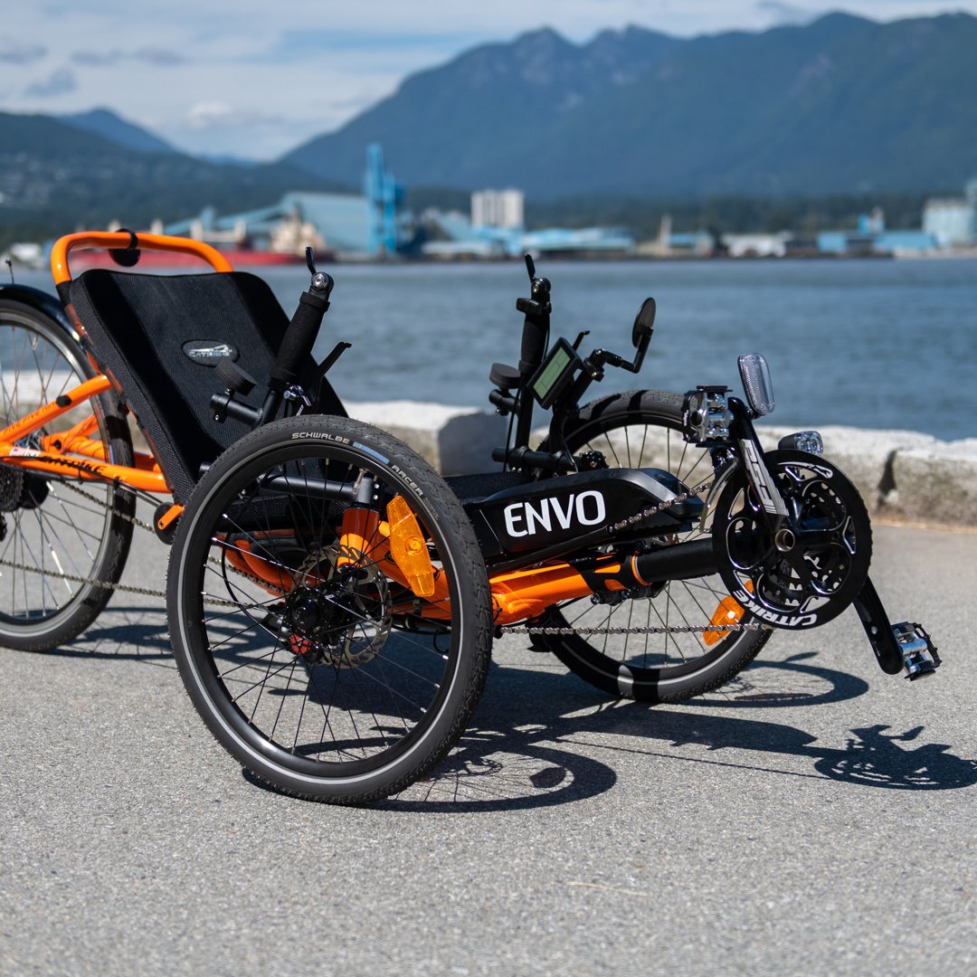 Recumbent Electric Conversion Kit Trike on seawall Vancouver Canada